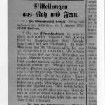 """Artikel aus der Lippischen Post 1922 über die Dreharbeiten zum Film """"Cartouche"""" oder """"Der Gaukler von Paris""""."""