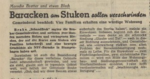 Baracken am Stuken, Brake, 1947 (Sta L B 3730)