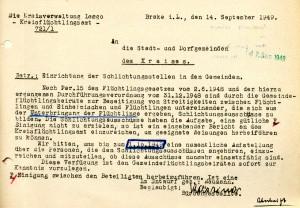 Einrichtung von Schlichtungsausschüssen, 1949 (StaL H 1 - Brake - 193)