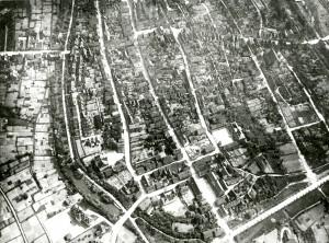 Ballonaufnahme der Stadt Lemgo aus 300 Meter Höhe am 17. Juli 1912 (StaL N 8 / 217)