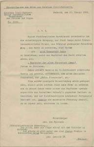 Abschriften aus den staatlichen Akten zur Namensverleihung 1919 (StaL B 2080)