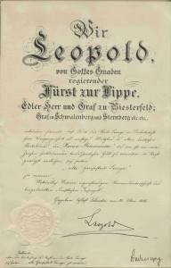 Verleihungsurkunde vom 30. Mai 1916 (StaL B 2080)