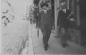 August Schacht mit seinem Neffen Karl Meier, Lemgo 1929 (N1 Fotosammlung, unverzeichnet)