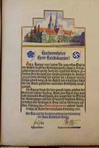 Ehrenbürgerbrief Adolf Hitler (StaL MU 5)