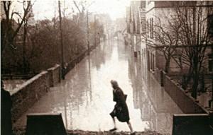 Kohlstraße am Abteigarten in Lemgo vom Wall aus, 1946 (StaL N 1 unverzeichnet, Foto: Sabine Niewenhuis)