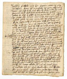 Brief einer im Hexenprozess Angeklagten? (StaL A 10879)