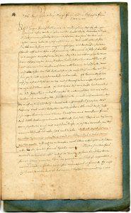 5. Brief des Jacob Henrich Zütterig an seine Schwiegermutter über die Lemgoer Hexenverfolgung (StaL A 2003)