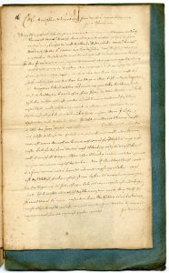 7. Brief des Jacob Henrich Zütterig an seine Schwiegermutter über die Lemgoer Hexenverfolgung (StaL A 2003)