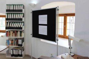 Texttafel zu einer Recherche-Station im Stadtarchiv Lemgo, Tag des offenen Denkmals 11.09.2016 (Foto: Oeben)