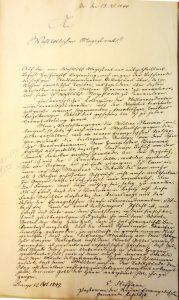 Schreiben Emil Steffanns an den Magistrat der Stadt Lemgo, 12.10.1849 (Sta L A 4231)